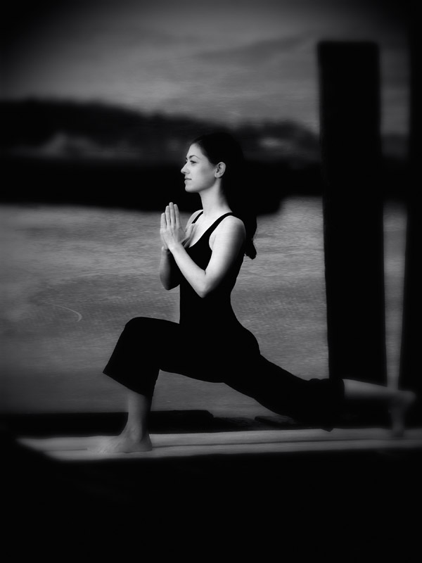 Yoga on the Dock; Early morning