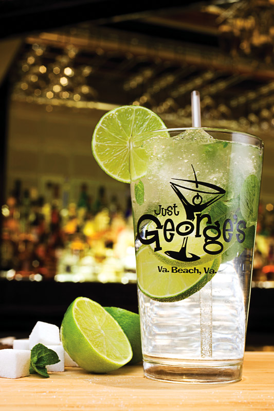 Food & Drinks at Just George's Sports Bar; Mojito