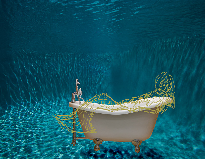 Mermaid and Bathtub Underwater