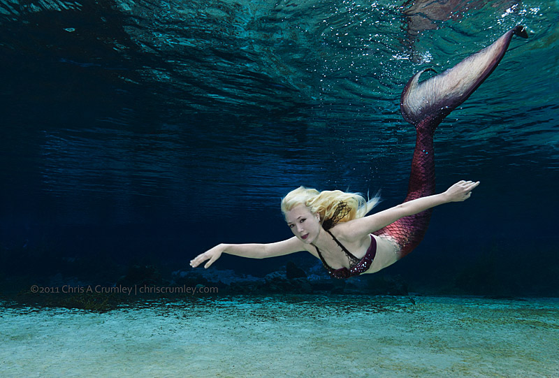 Mermaid Iara Mandyn in Rainbow River Headspring