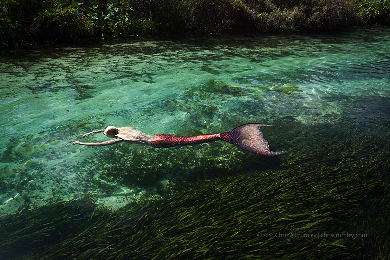 Iara Mandyn in Weeki Wachee River - Central Florida