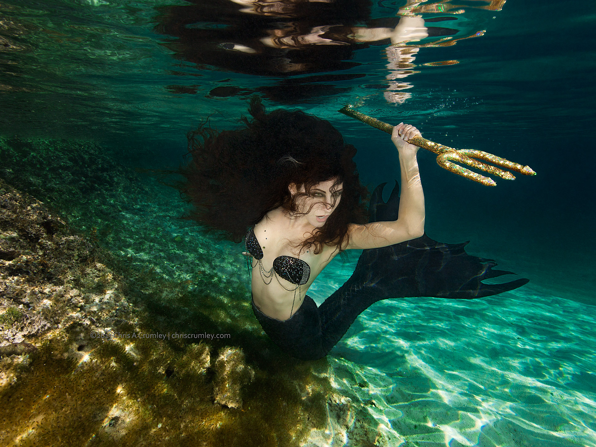 Hunter Mermaid at Highbourne Cay, Exuma Cays, Bahamas