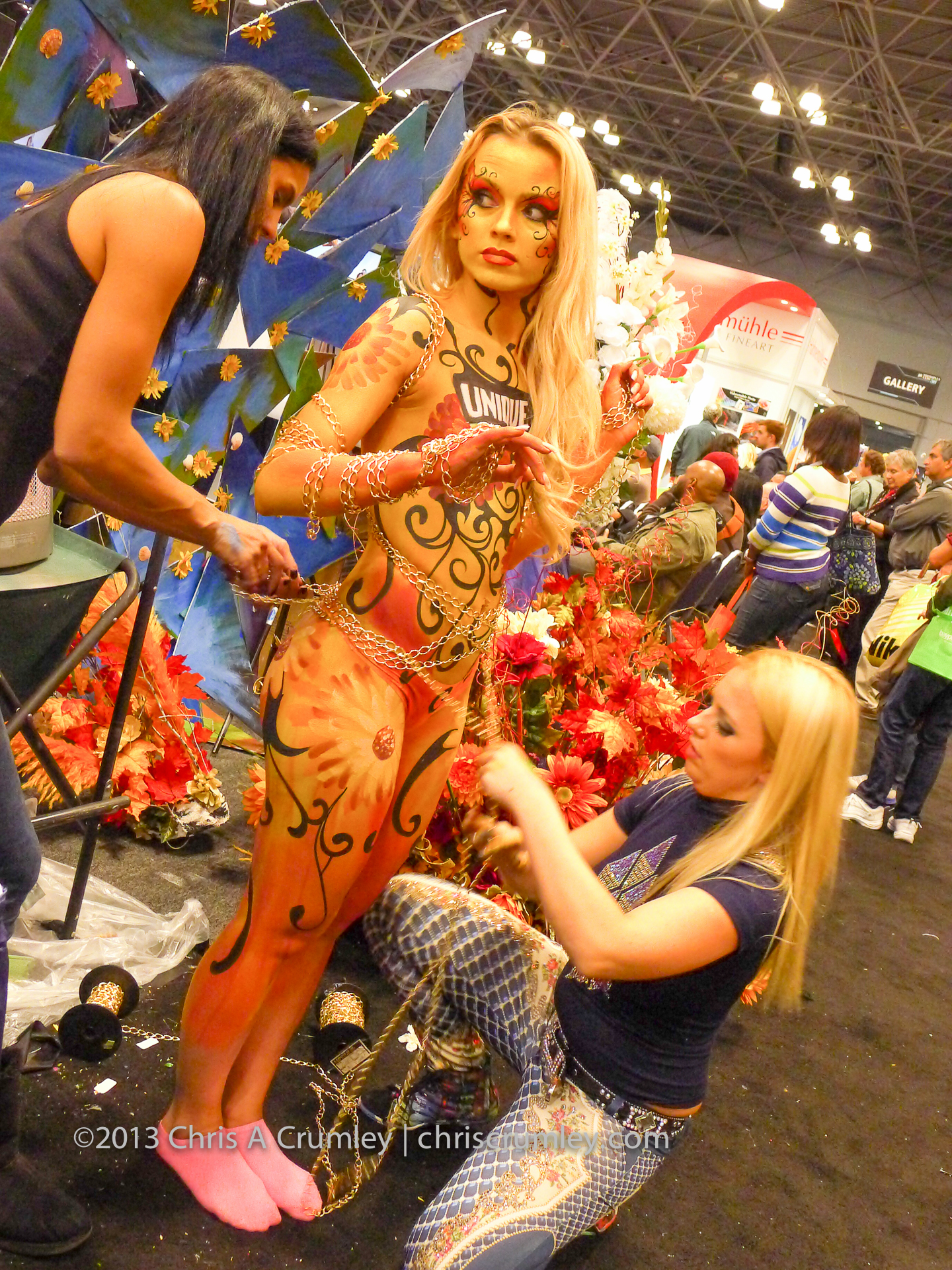 Body Painted Blonde at the PhotoPlus Expo in NY