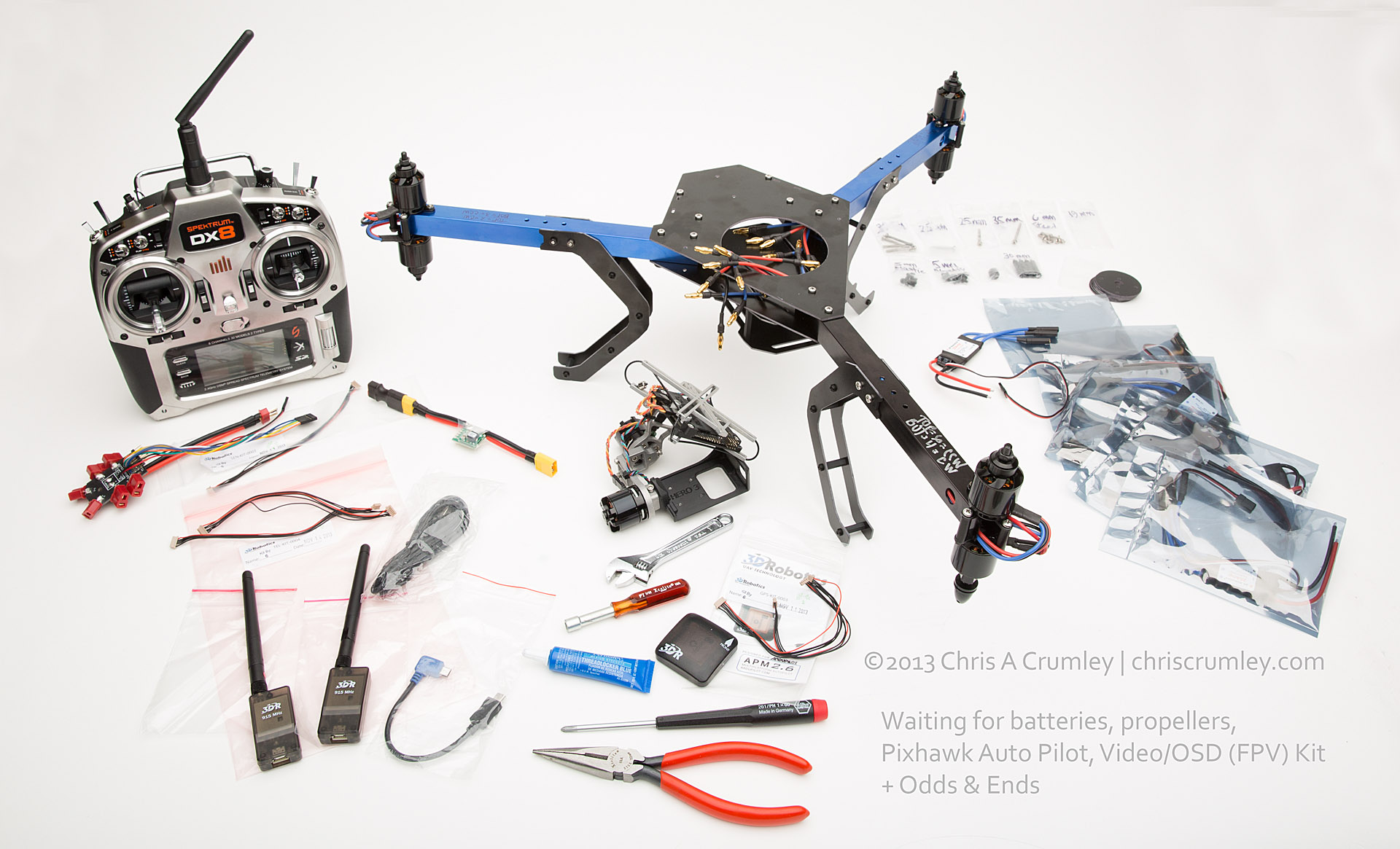 Contruction Project: Build 3D Robotics Y6 Copter/Drone