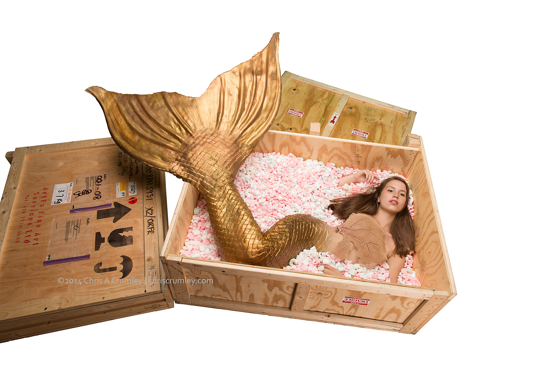 Golden Mermaid Ready for Shipping