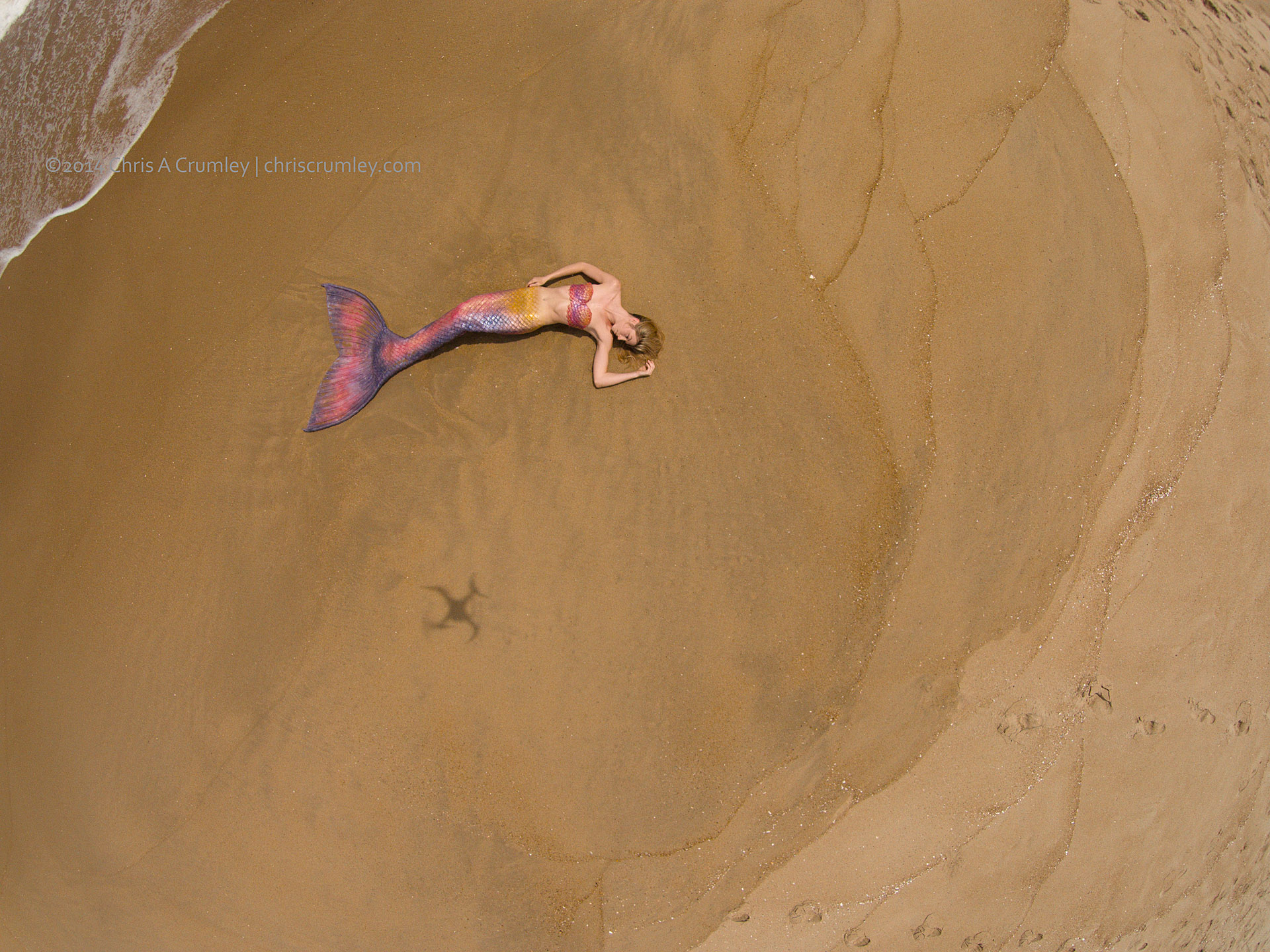 Aerial of Mermaid; Virginia Beach at 78th Street