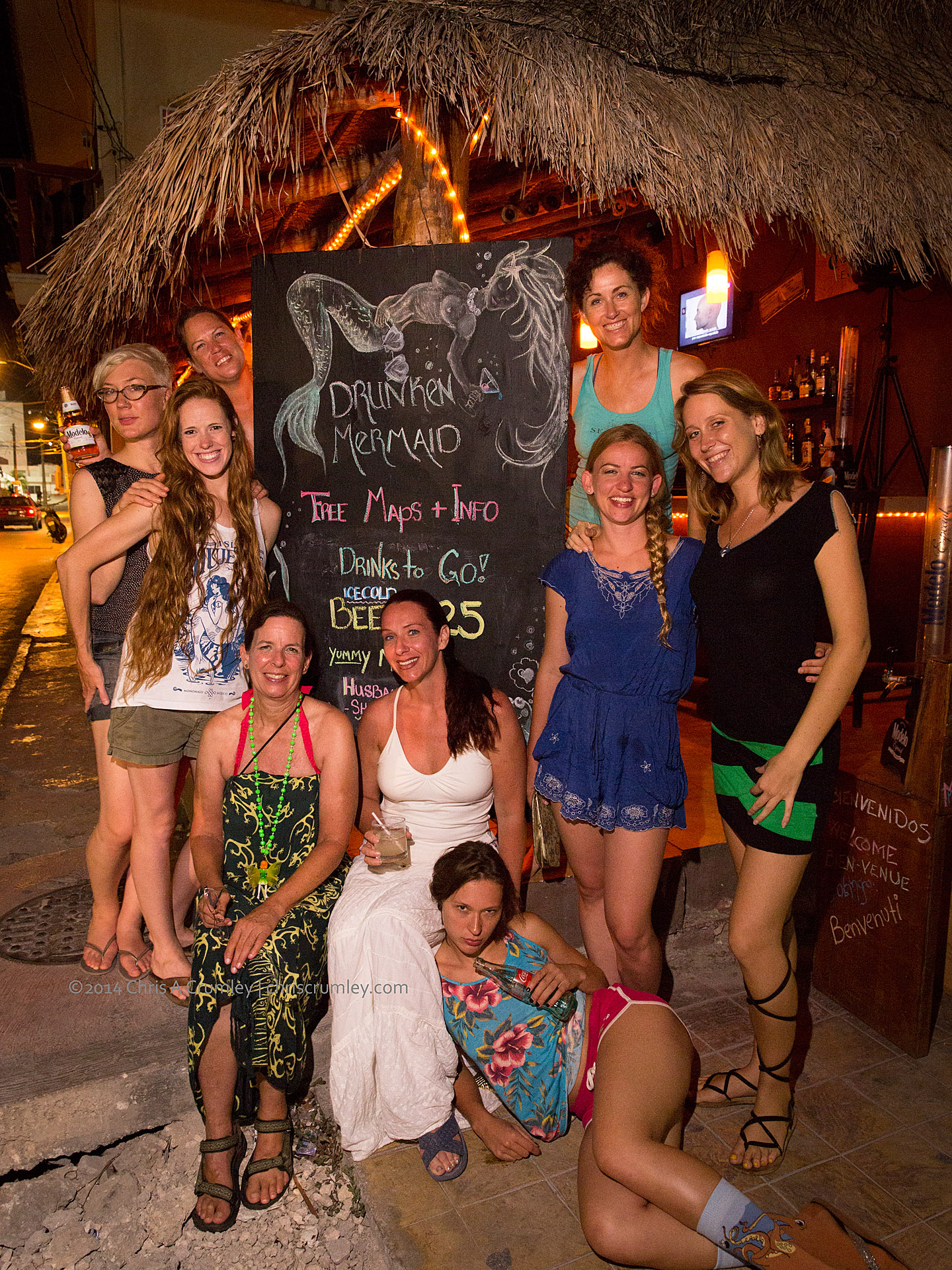 Wrap up party for Mermaid Portfolio Workshop Isla Mujeres Mexico