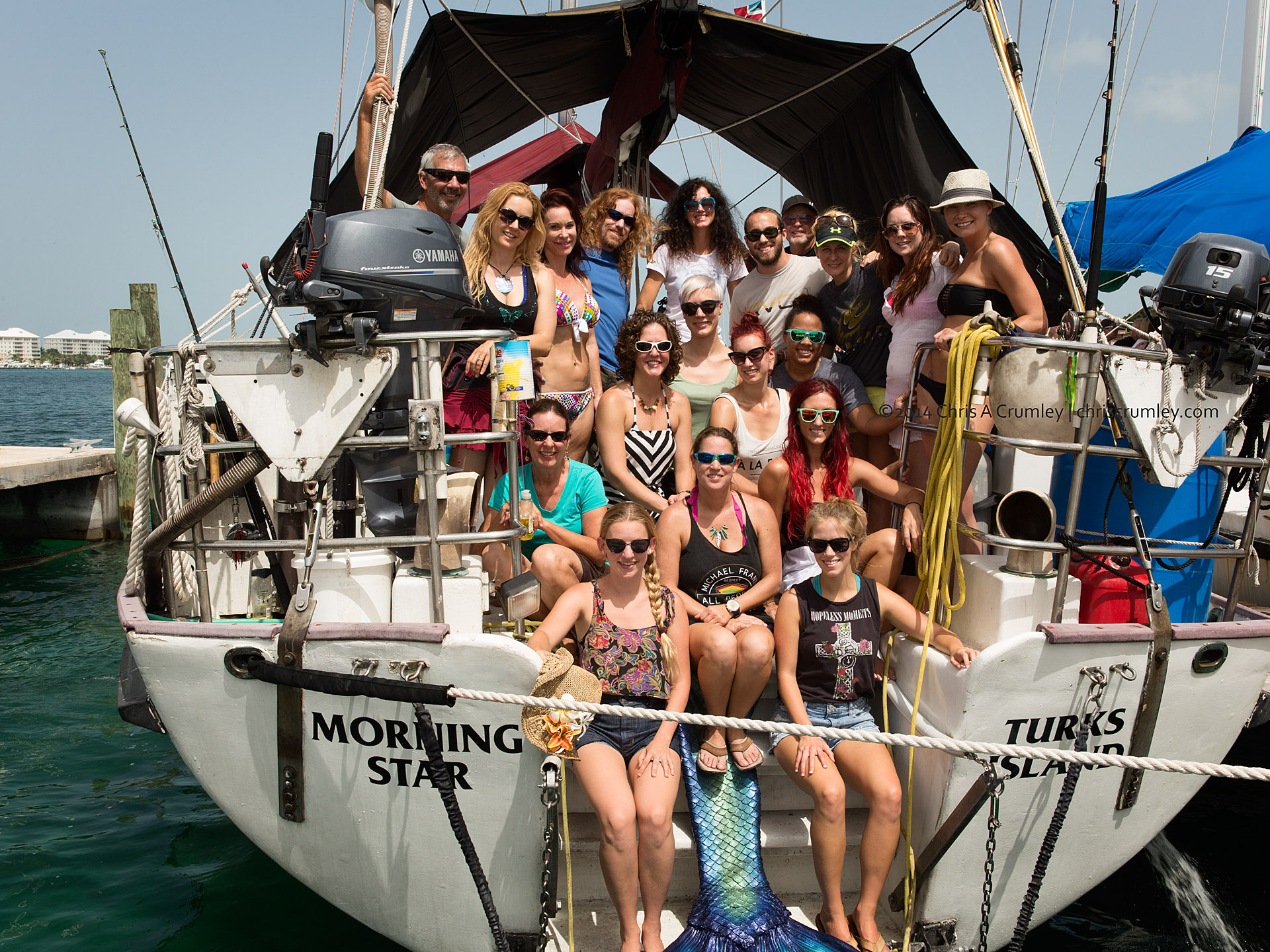 Crew Shot from Mermaid Portfolio Workshop 2014 Exuma Cays, Bahamas Islands