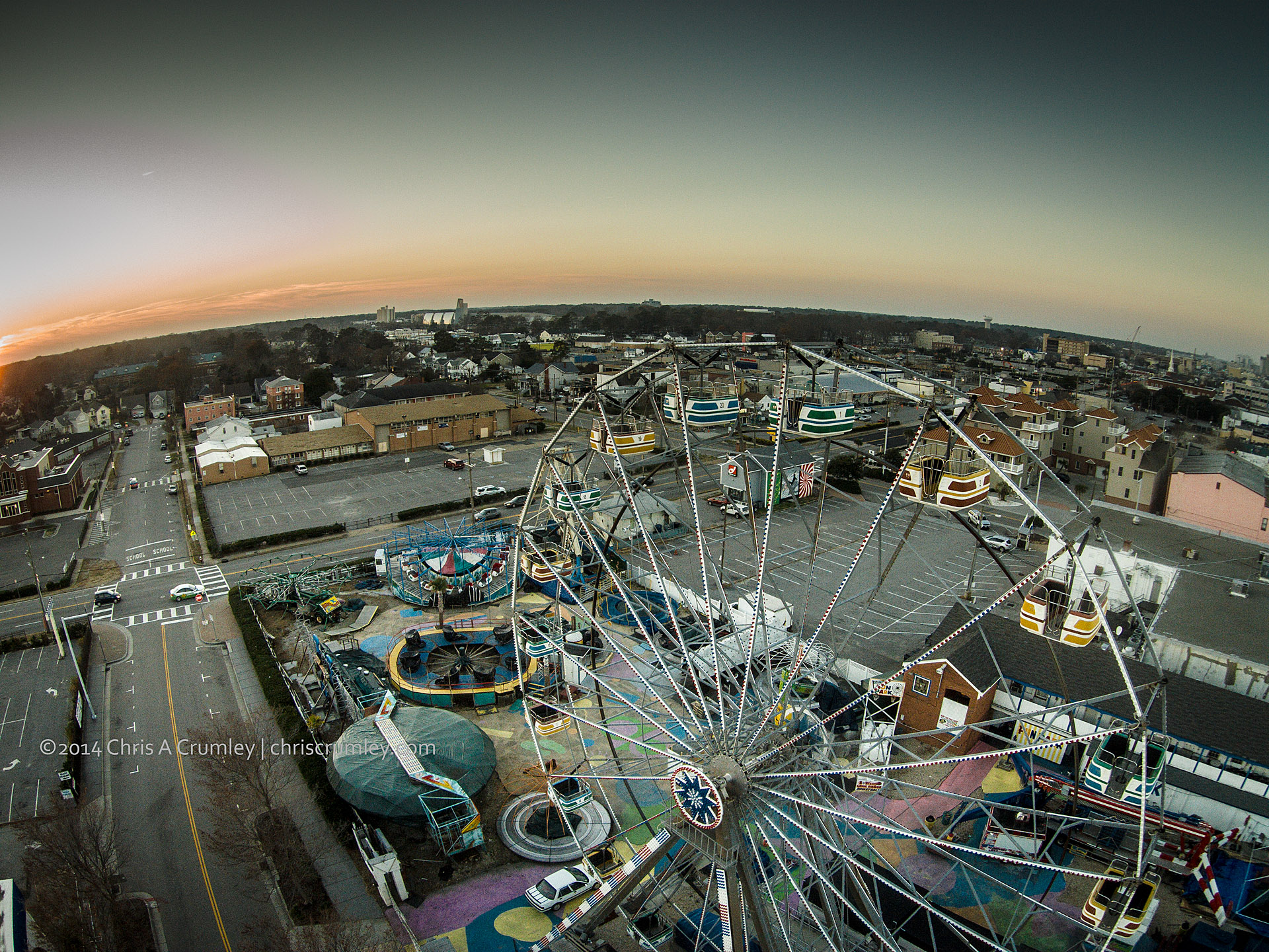 VA Beach 16th Street Amusement Park Aerial