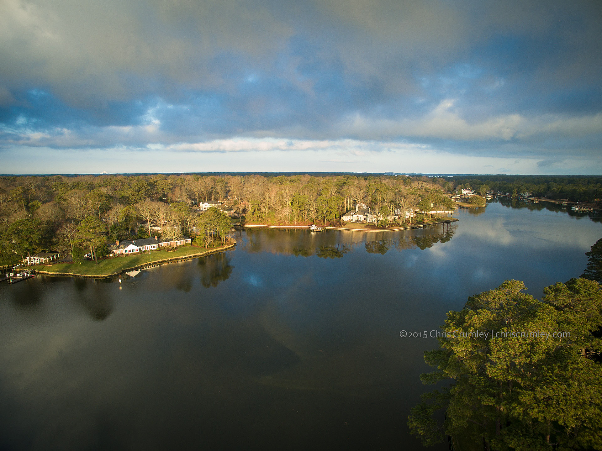 Early Morning Drone Aerials Over Crystal Lake, Virginia Beach, VA