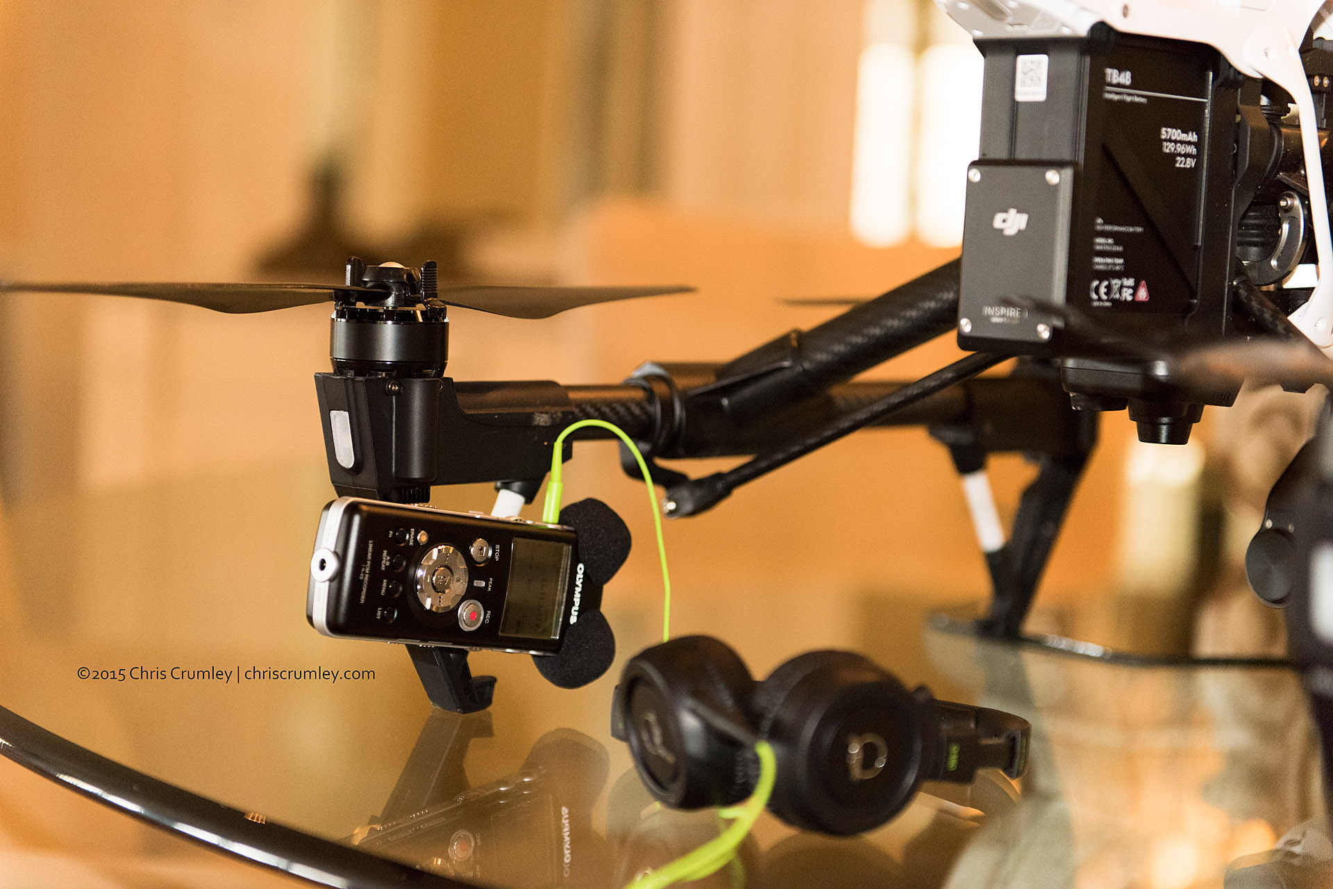 DJI Inspire 1 Rigged for Audio