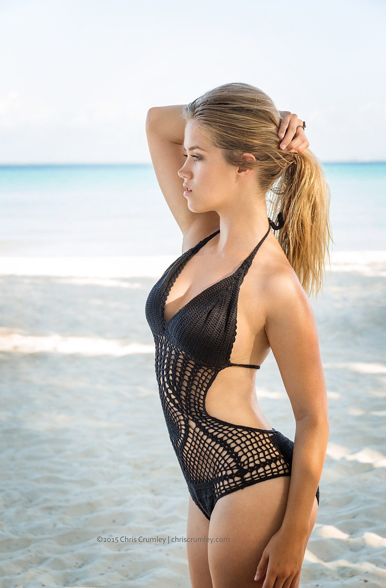 Model on the Beach, Isla Mujeres, Mexico