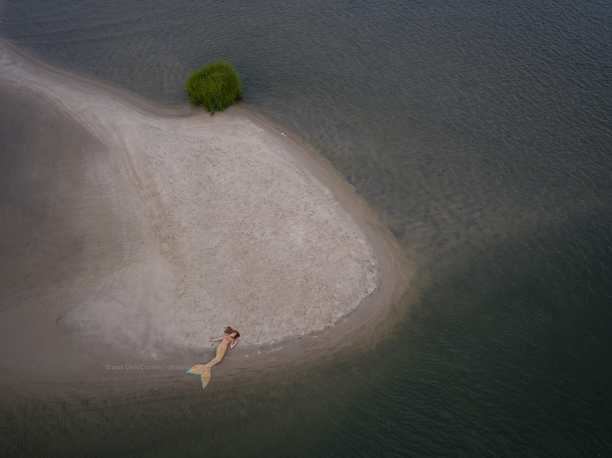 Aerial of a Mermaid, Lynnhaven Inlet, Virginia Beach
