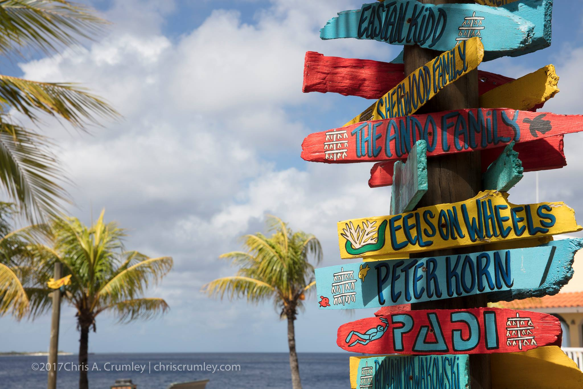 Sign Post in Bonaire