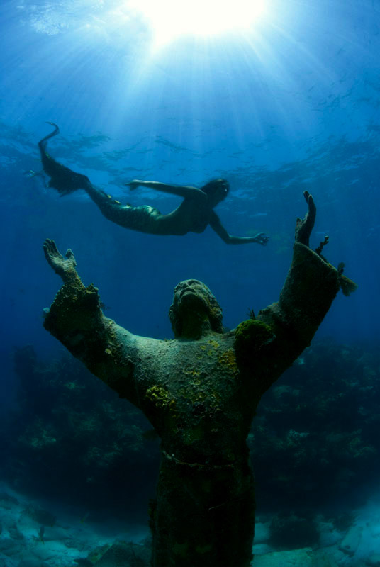 Mermaid and Christ of the Deep