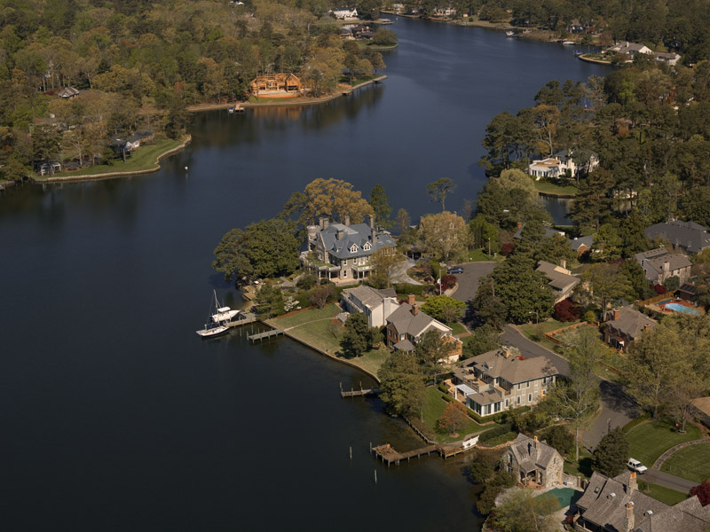Aerial; Crystal Lake, Virginia Beach, VA