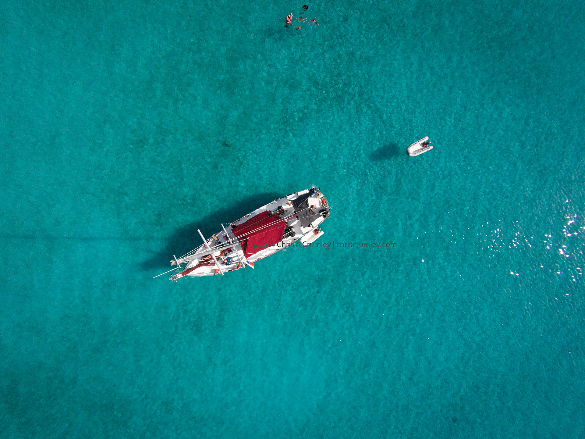 Drone aerial from Mermaid Portfolio Workshop - Exuma Cays, Bahamas Islands
