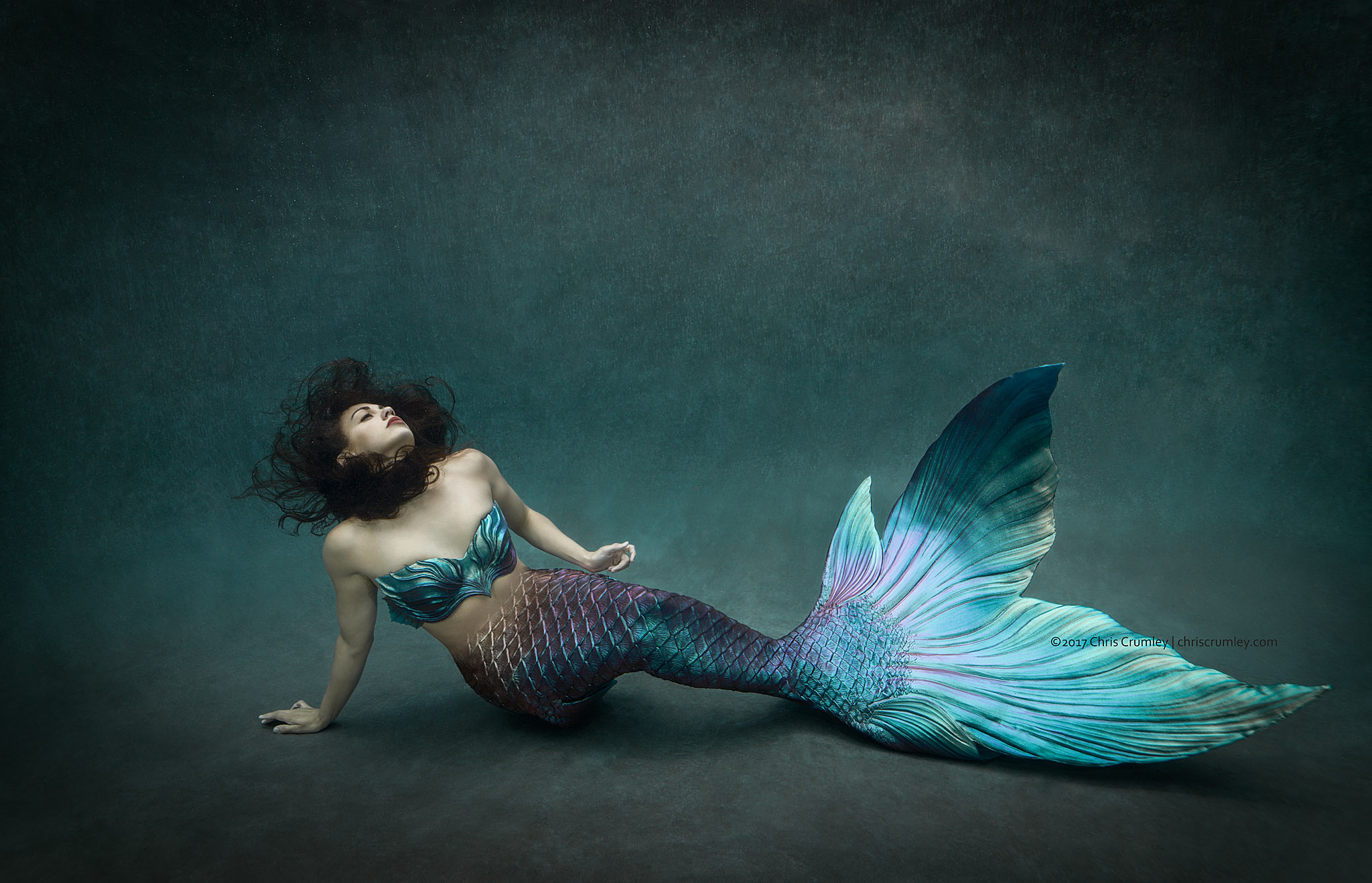 Mermaid photoshoot for Virginia Pilot Interview